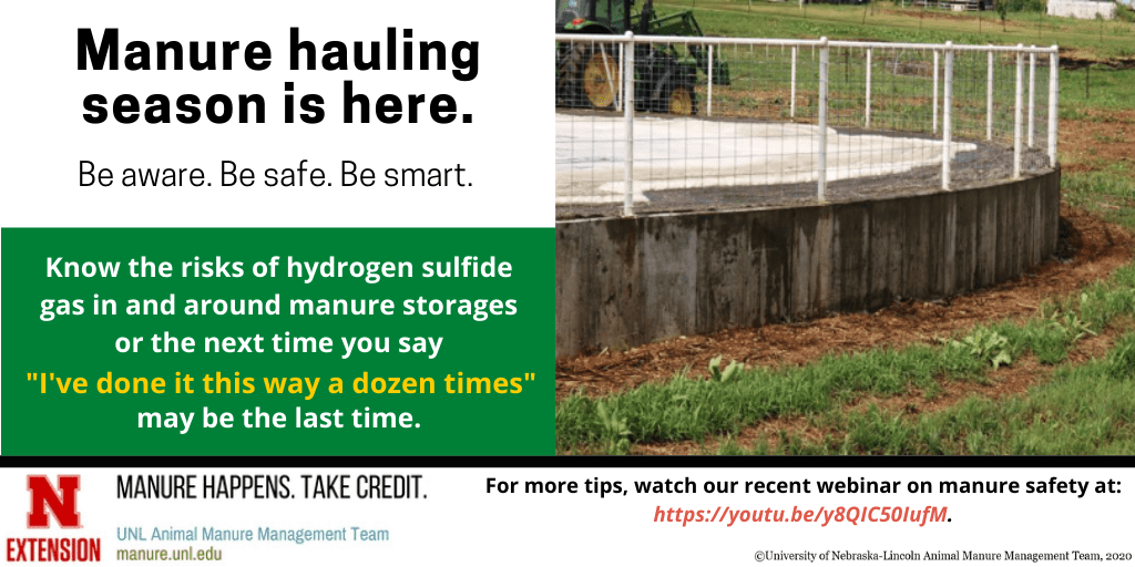 Manure hauling season is here, know the risks of hydrogen sulfide gas infographic
