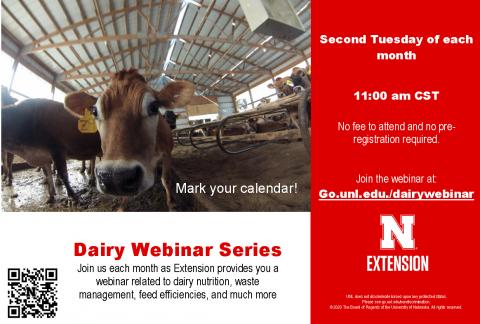 Dairy Webinar Series postcard